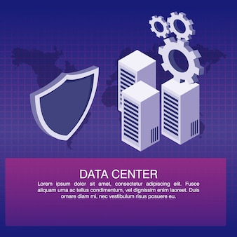 Data center poster with informaton