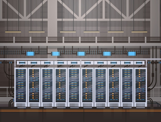 Data center room hosting server computer information database synchronize technology