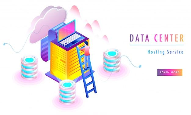 Data centre concept.