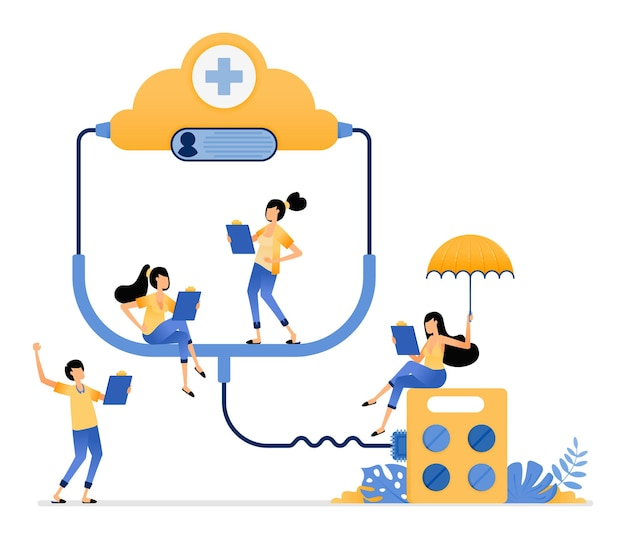 Data cloud system connected to health facilities to monitor availability of medicines