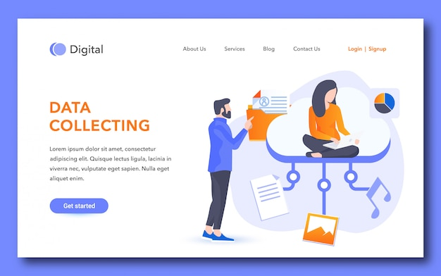 Data collecting landing page