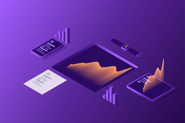 Data collection from gadgets concept