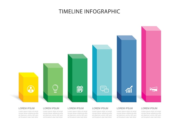 Data infographics rectangle step growth success template design.  can be used for workflow layout, business step, banner, web design.