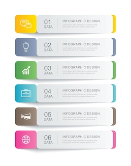 Data infographics tab paper thin line index template . can be used for workflow layout, business step, banner, web design.