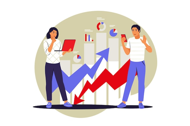 Data inform concept. vector illustration on isolated background. flat