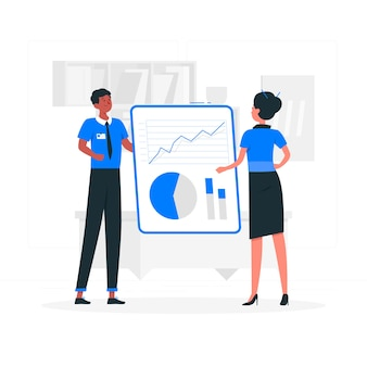 Data inform illustration concept