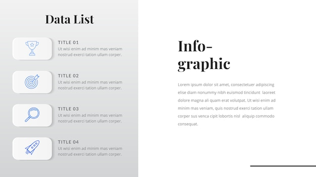 Data list infographic template