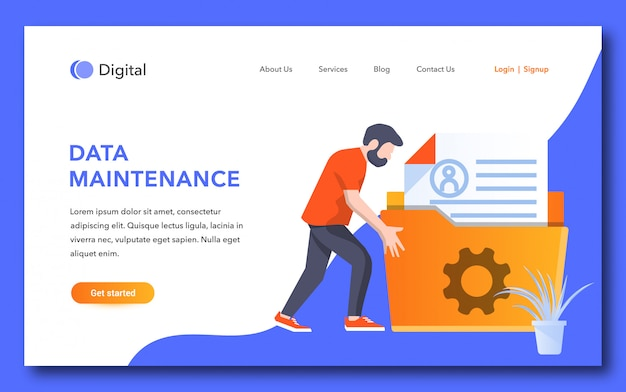 Data maintenance landing page