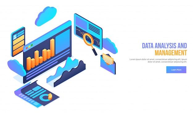 Data management concept.