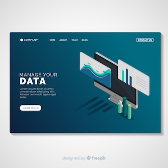 Data management landing page template