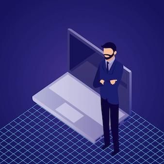 Data network businessman