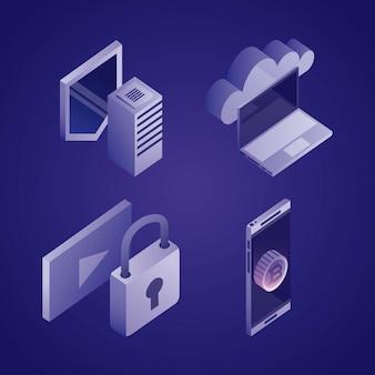 Data network illustration pack