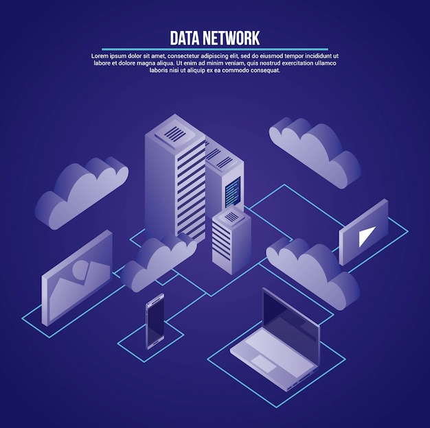 Data network illustration