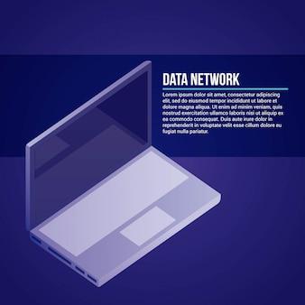 데이터 네트워크 일러스트레이션