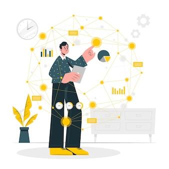 Иллюстрация концепции точек данных