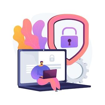 Illustrazione di concetto astratto di privacy dei dati