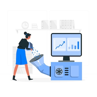 Иллюстрация концепции обработки данных