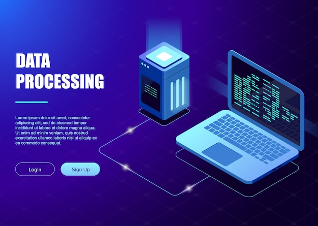 Data processing template