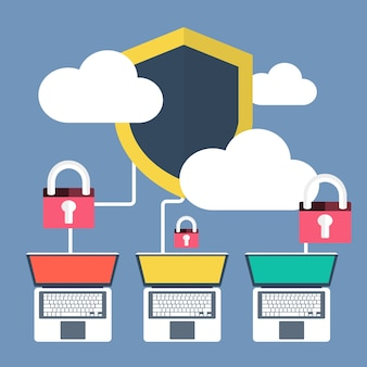 Data protection and antivirus software concept
