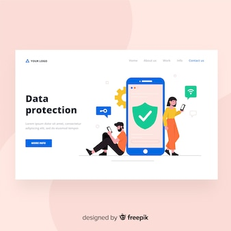 Data protection landing page design