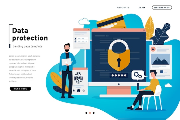 Data protection landing page template