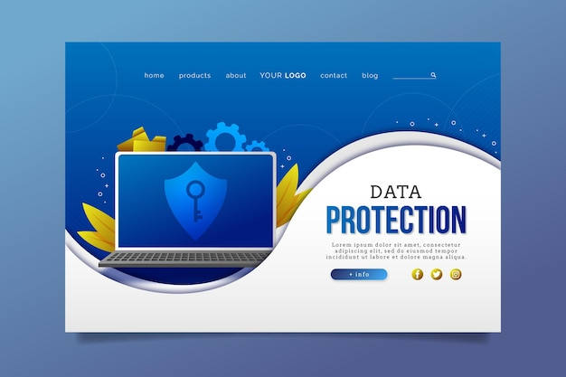 Data protection landing page theme