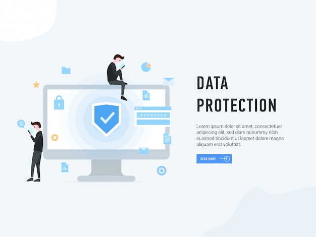 Data protection landing web page