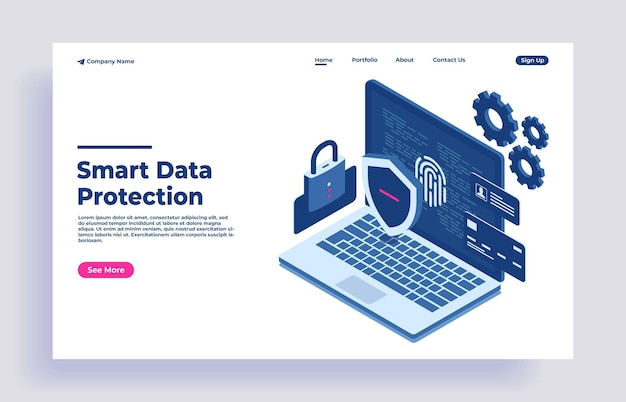 Data protection network data security afety confidential data protection concept