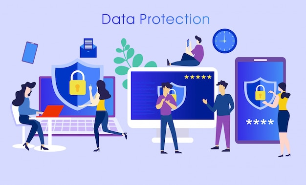Data protection system character concept