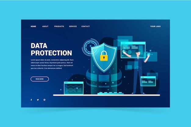 Data protection template landing page