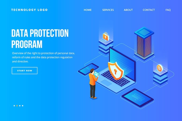 Data protection web template
