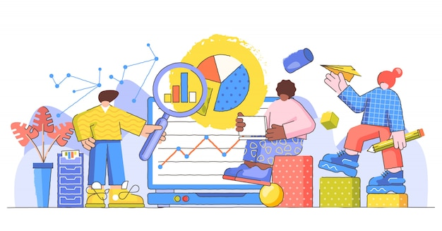 Data research creative   illustration