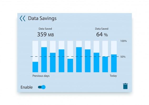 Data saving infographic