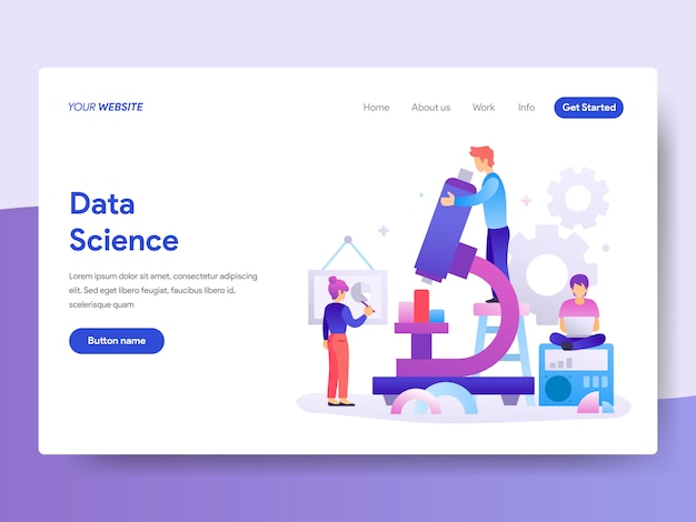 Data science illustration for homepage