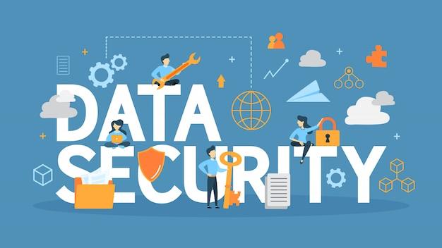 Иллюстрация концепции безопасности данных. идея информации и безопасности.