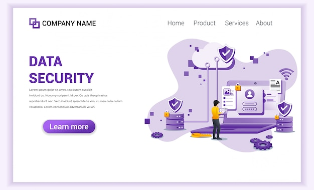 Data security  landing page
