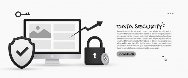 Data security and personal information protection concept