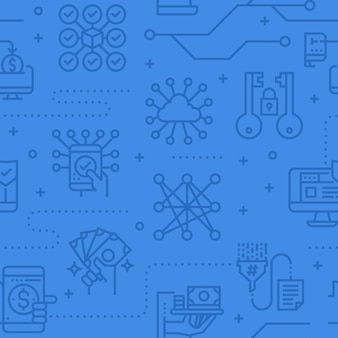 Data security seamless vector pattern