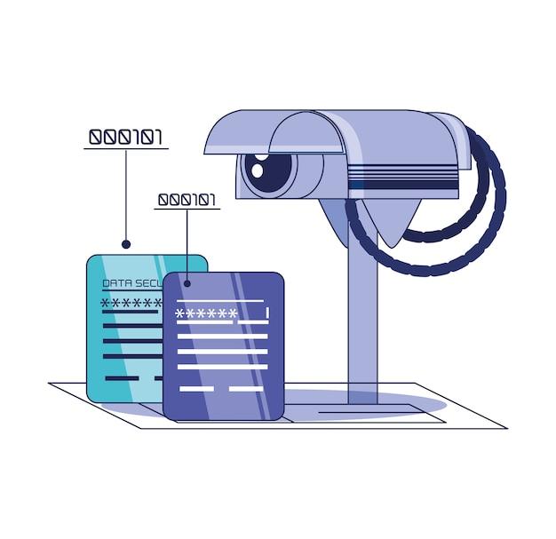 Технология технологии безопасности данных векторная иллюстрация дизайн