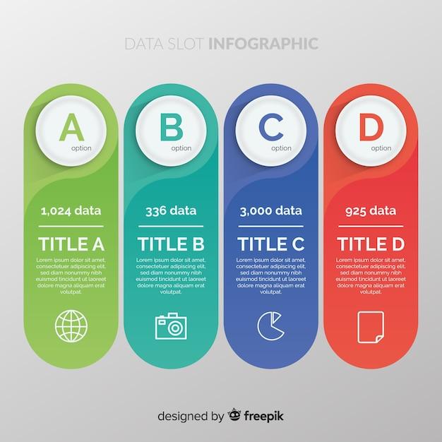 Data slot infographic
