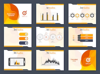 Data statistics graph with infographic elements
