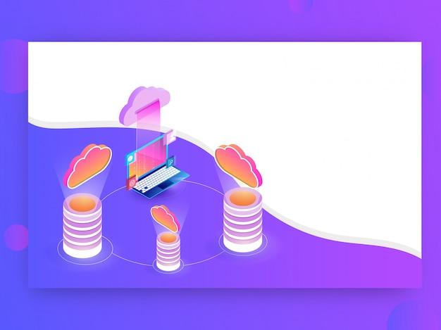 Data storage concept.