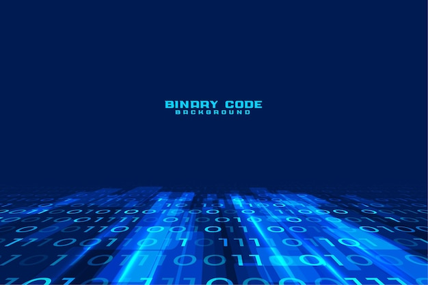 Data stream digital binary code background