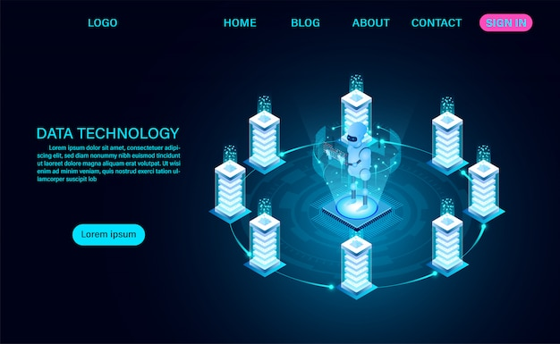 Data technology service landing page