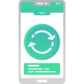 Обмен информацией значок передачи данных на вектор мобильных