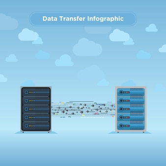 Data transfer infographic template