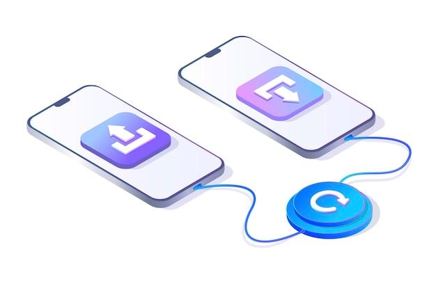 Передача данных передача информации загрузка и получение данных обновление телефона