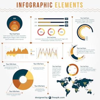 データ視覚化インフォグラフィック要素