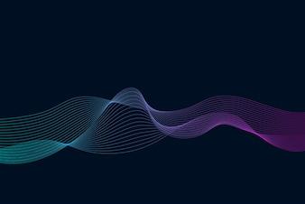 Data visualization dynamic wave pattern vector