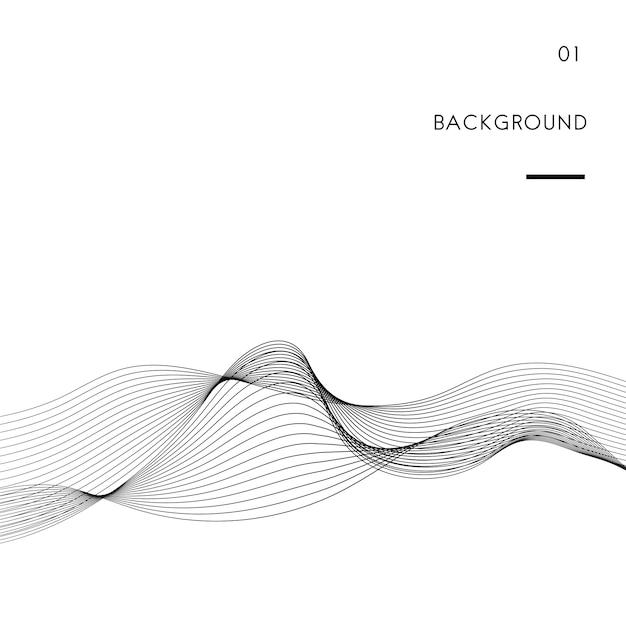 Free Data visualization dynamic wave pattern vector SVG DXF